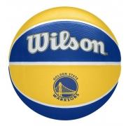 Bola de Basquete Wilson NBA Team Tribute Warriors - Amarelo/Azul