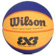 Bola de Basquete Wilson Replica Fiba 3x3 - Azul e Amarelo