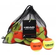 Bola de Beach Tennis Head - Saco com 12 Bolas