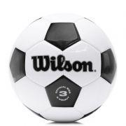 Bola de Futebol de Campo Wilson Tradicional 3 - Preto e Branco