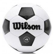 Bola de Futebol de Campo Wilson Tradicional 4 - Preto/Branco