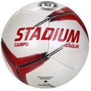 Bola de Futebol de Campo Stadium Ataque - Branca/Vermelho