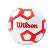Bola de Futebol de Campo Wilson Pentagon Vermelho e Branco