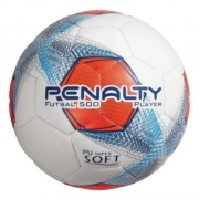 Bola de Futebol Futsal 500 Player Penalty - Laranja/Branco