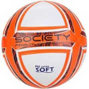 Bola de Futebol Penalty Matís DT X Society - Branca/ Laranja