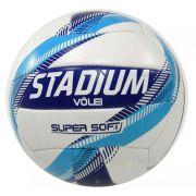 Bola de Futebol Stadium Vôlei Super Soft - Branco/Azul