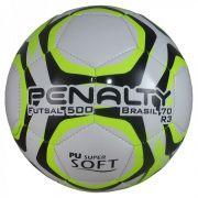 Bola de Futsal Penalty Brasil 500 R3 IX - Branco e Amarelo