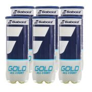 Bola de Tênis Babolat Gold C/ 6 tubos