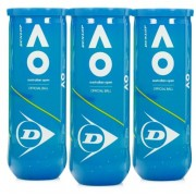 Bola de Tênis Dunlop  Australian Open C/ 3 Tubos