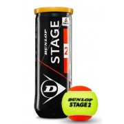 Bola de Tênis Dunlop Mini Orange Estagio 2 Tubo C/ 3 Bolas
