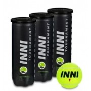 Bola de Tenis Inni Tournament -  Pack c/ 3 tubos