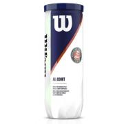 Bola de Tenis Wilson Roland Garros All Court - Tubo c/ 3 Bolas