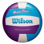 Bola de Volei Wilson Mateh Point - Azul/Roxo