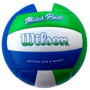Bola de Volei Wilson Mateh Point -  VerdeAzul
