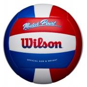 Bola de Volei Wilson Mateh Point - Vermelho/Branco