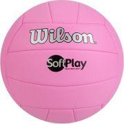 Bola de Volei Wilson Soft Play Rosa