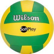 Bola de Volei Wilson Soft Play Verde e Amarela