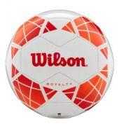 Bola de Futebol de  Campo Wilson Royalty - Branco e Laranja