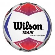 Bola Society de Futebol Wilson Team - Vermelho/Azul
