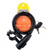 Cadeado Bicicleta Aco Paco 6x100mm C/Suporte - Preto