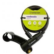 Cadeado Espiral C/Chave 1mx6mm Elleven - Preto