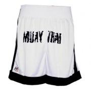 Calção Fighters P/ Muay Thai/MMA Kanxa - Preto/Branco