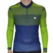 Camisa Ciclismo Kanxa Listrada - Verde/Marinho