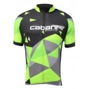 Camisa de Ciclismo Cabani Aritima - Preto/Verde (Manga Curta)