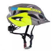 Capacete Ciclismo Bike  Gta - Cinza e Verde Limão
