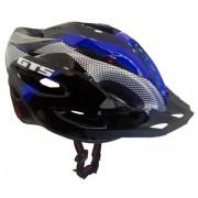 Capacete Ciclismo Bike  MTB GTS  52 ao 60 - Preto/Azul/Cinza