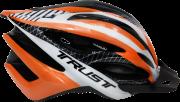 Capacete Ciclismo Bike Trust - Preto e Laranja