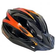 Capacete Ciclismo Elleven Preto/Laranja