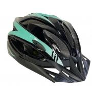 Capacete Ciclismo Elleven Preto/Verde