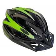 Capacete Ciclismo Elleven Preto/Verde Neon