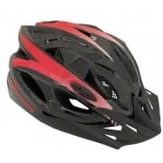 Capacete Ciclismo Elleven  57 ao 61 Preto/Vermelho