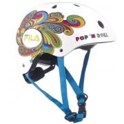 Capacete Fila Bella Helmet - Branco/Colorido