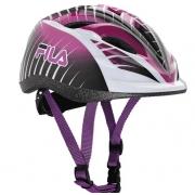 Capacete Fila Junior Girl Helmet - Preto/Violeta