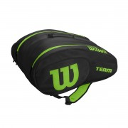 Raqueteira Wilson ESP Team Padel Beach Tennis Preta e Verde