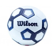 Bola de Futebol de Campo Wilson Pentagon Azul e Branco