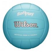 Bola de Vôlei Wilson Soft Play Oficial Azul Claro