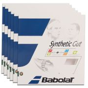 Corda Babolat Synthetic Gut 16 1.30 mm 11,75m Natural - Pack C/ 6 Sets