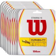 Corda Wilson Stamina 16L 1.30mm 12m - Pack C/ 12 Sets