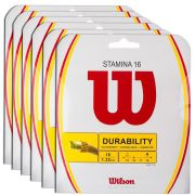 Corda Wilson Stamina 16L 1.30mm 12m - Pack C/ 6 Sets