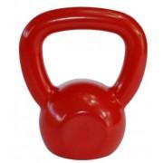 Kettlebell Emborrachado Fundido 10 kg - Vermelho