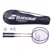 Kit Badminton Babolat Leisure  Com 2 Raquetes 2 Petecas