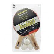 Kit Com 2 Raquete e 3 Bolinhas  Yashima - 82000