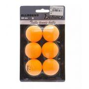 Kit Com 6 Bolinhas de Tênis de Mesa 1 Estrela Yashima - Laranja
