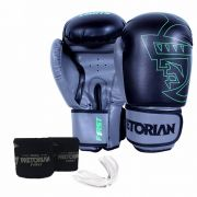 Kit de Boxe/ Muay Thay Pretorian First Preto