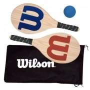 Kit Frescobol Logo Wilson 2 Raquetes + 1 Bola Original