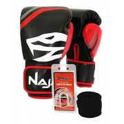 Kit Luva Muay Thai Boxe Naja First Extreme Preto + Band + Bucal